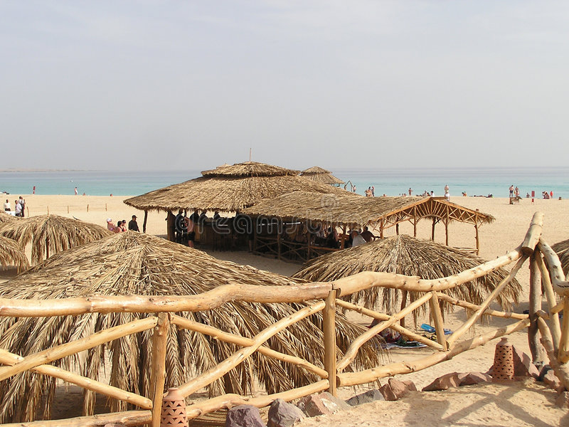 Beach view of Red sea, Egypt, Africa stock image