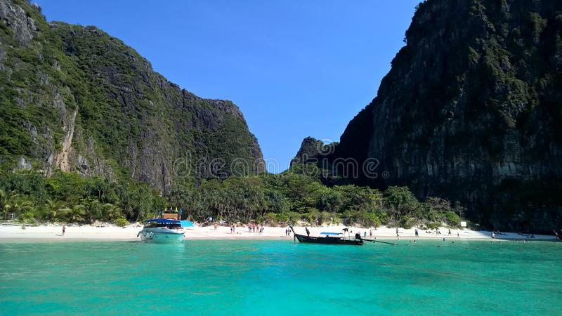 Beach view in the sea royalty free stock photos