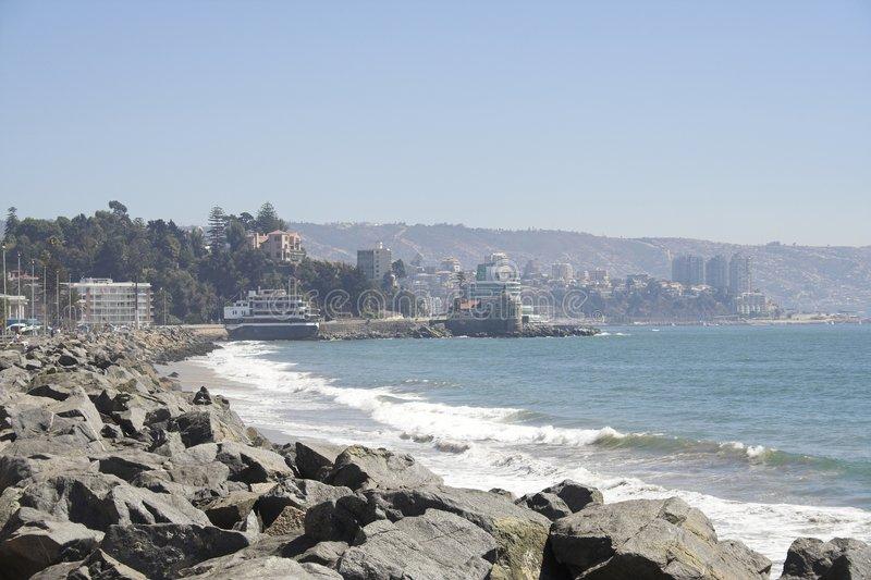 Beach Vina del Mar royalty-vrije stock afbeelding