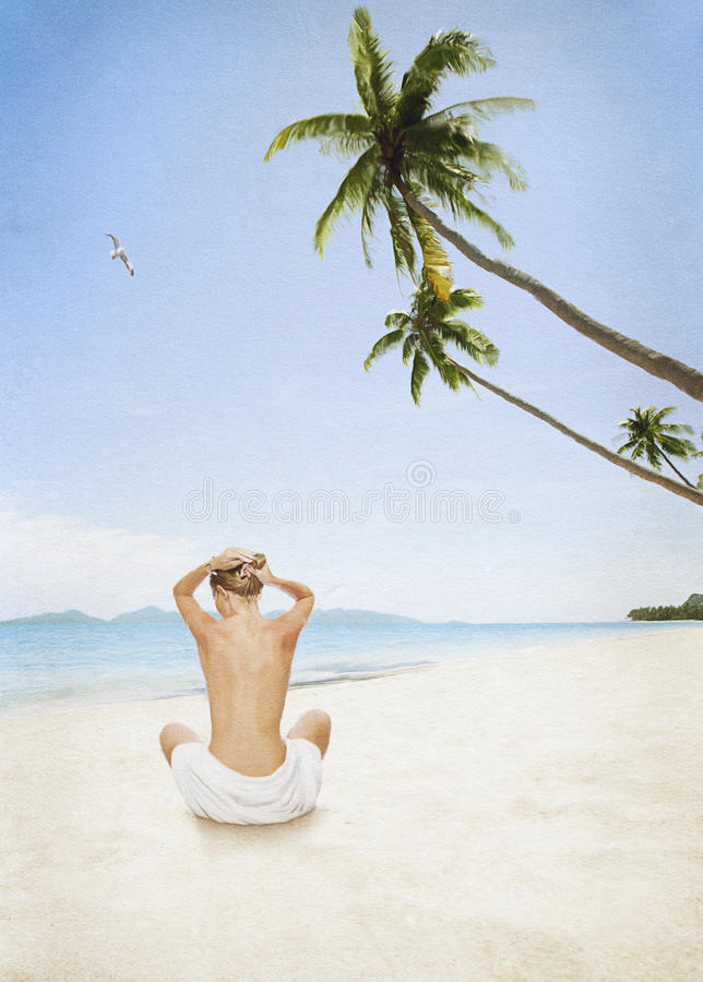 Naked Woman Sunbathing Beach Stock Images - Download 191 Royalty Free Photos-8967