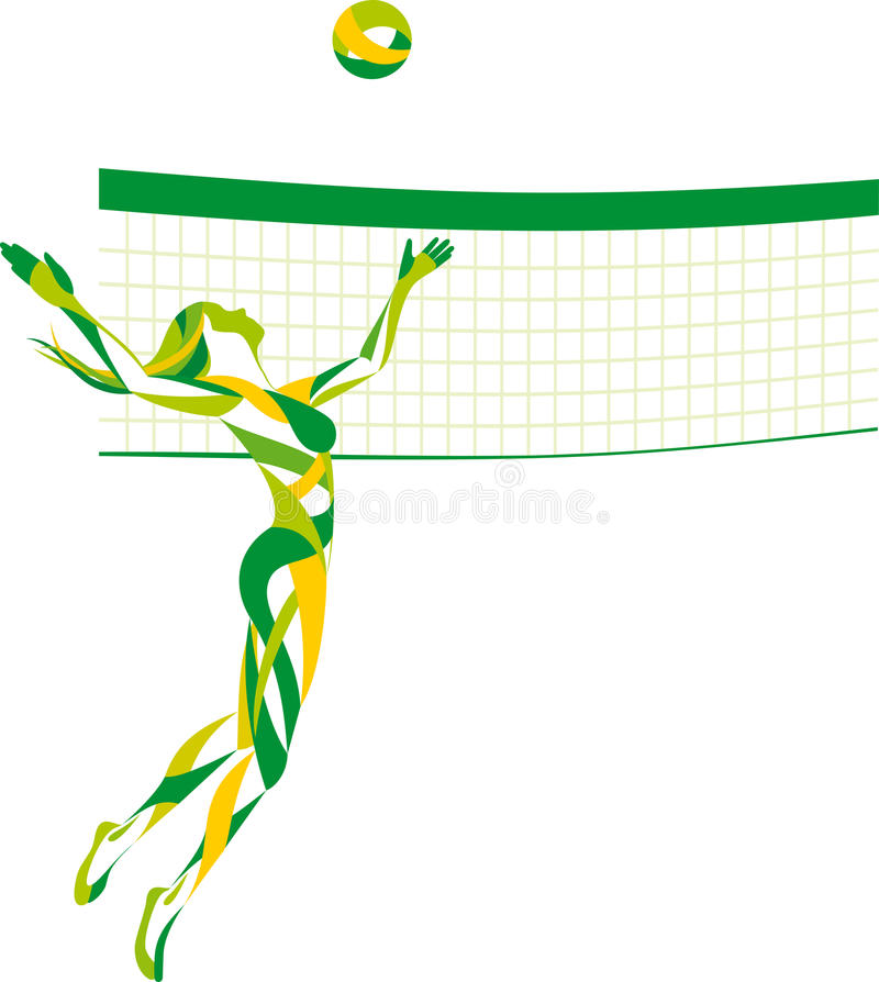 Beach volley vector illustration