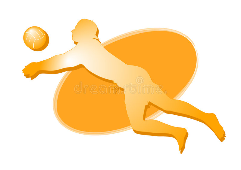 Beach volley player icon - man stock photos