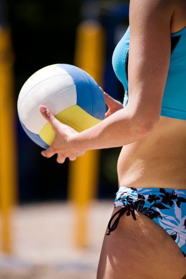 Beach volleyball stock image