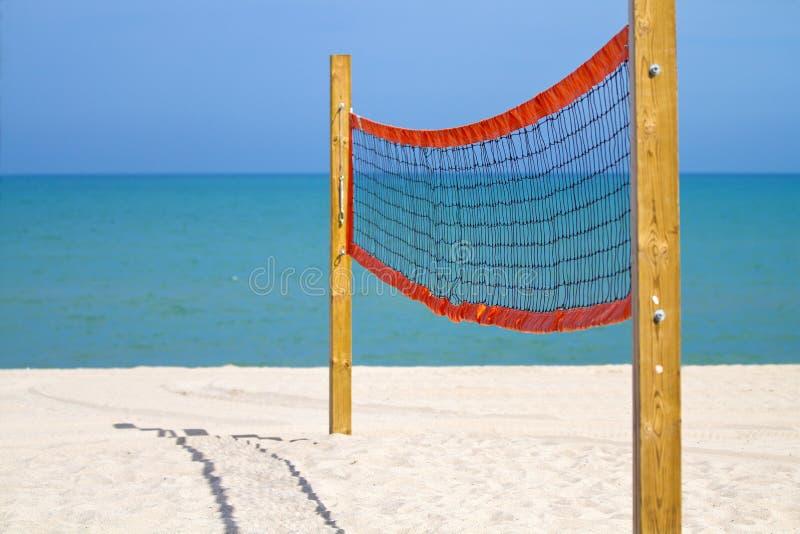 Beach Volleyball Net royalty free stock photos