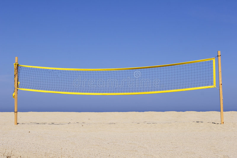 Download Beach Volleyball Net On Sandy Stock Photo - Image: 3034156