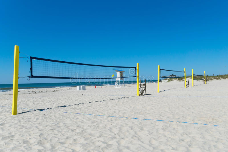 Download Beach volleyball nets stock image. Image of game, people - 40819637