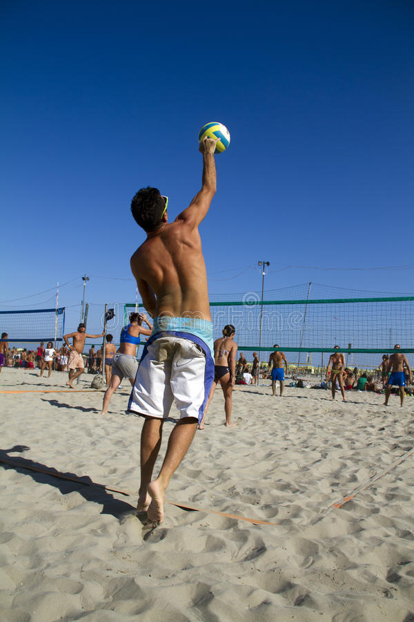 Download Beach volleyball editorial photo. Image of block, activity - 33537766