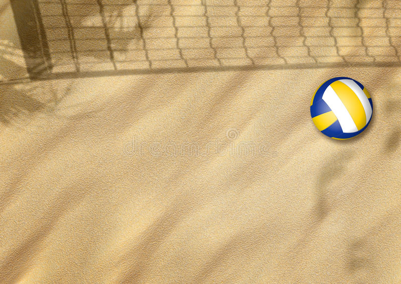 Download Beach volleyball on sand stock illustration. Image of african - 26569930