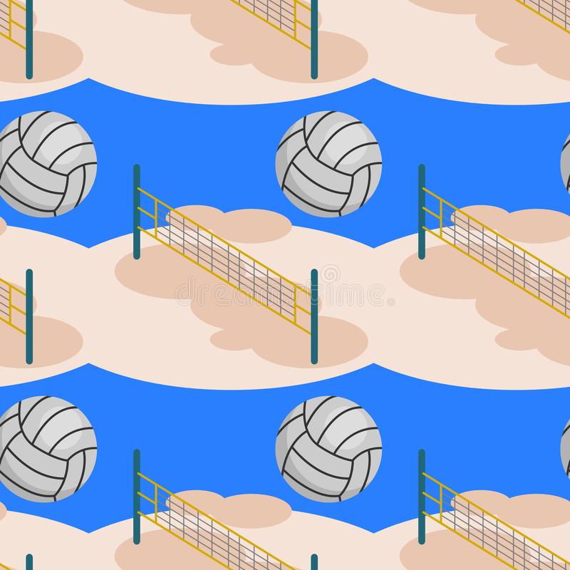 Beach volleyball seamless background design royalty free illustration