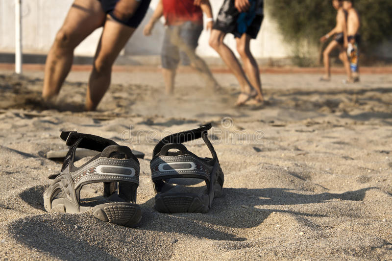 Download Beach Volleyball, Shoes Royalty Free Stock Photos - Image: 26338888