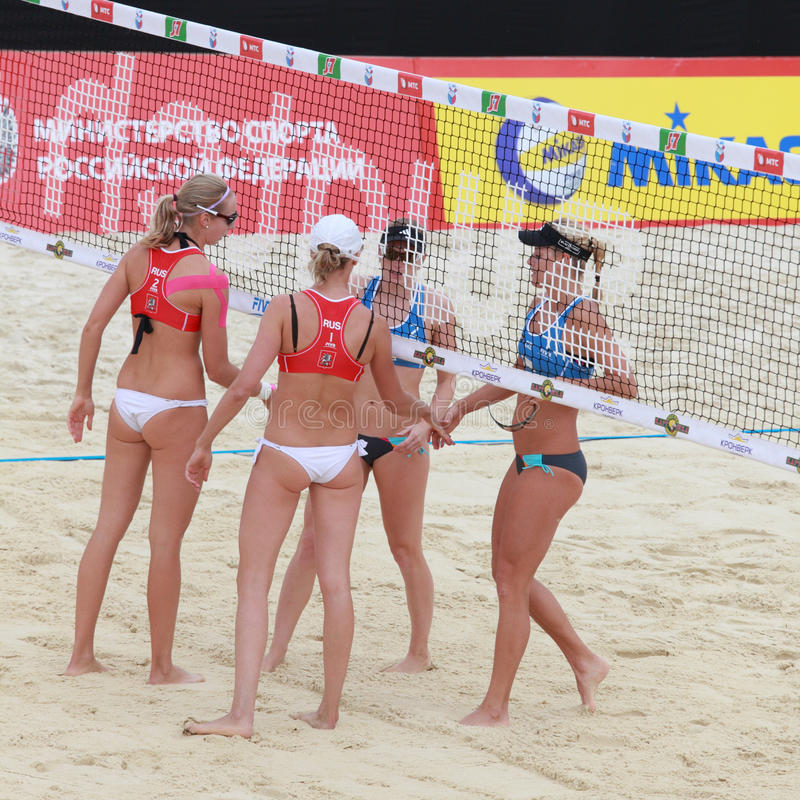 Beach Volleyball Swatch World Tour, Moscow royalty free stock photography