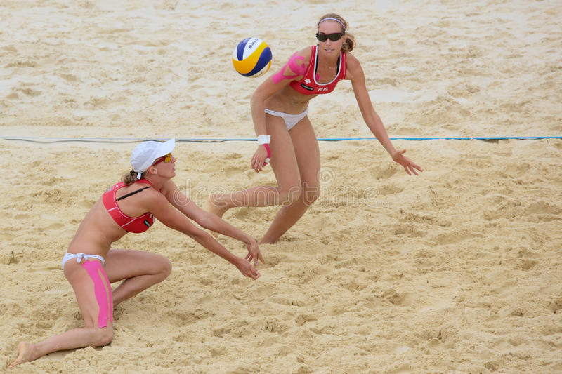 Download Beach Volleyball Swatch World Tour, Moscow Editorial Photography - Image: 25311132