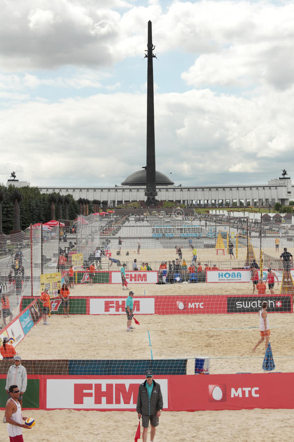 Download Beach Volleyball Swatch World Tour, Moscow Editorial Stock Image - Image: 25311204