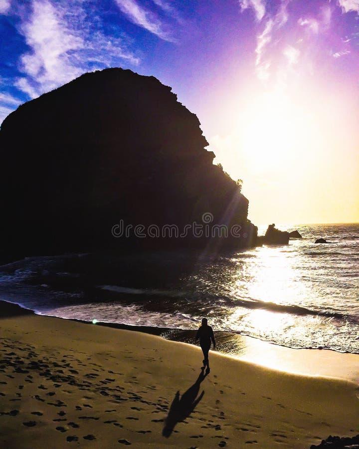 Beach walks royalty free stock photo