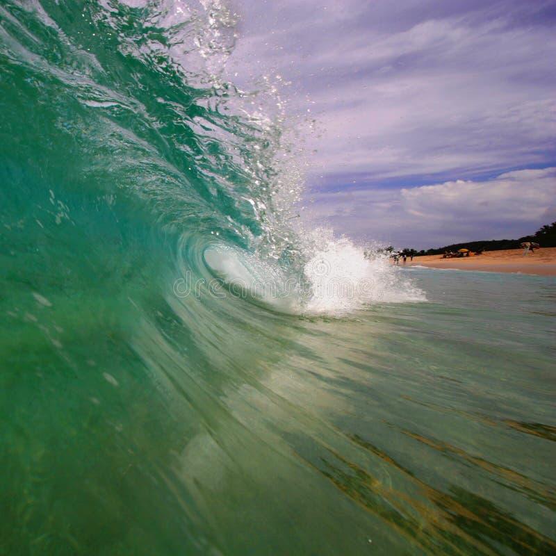 Beach wave stock image