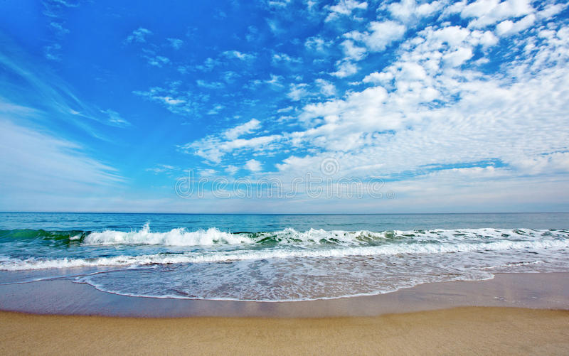 Beach waves royalty free stock photography