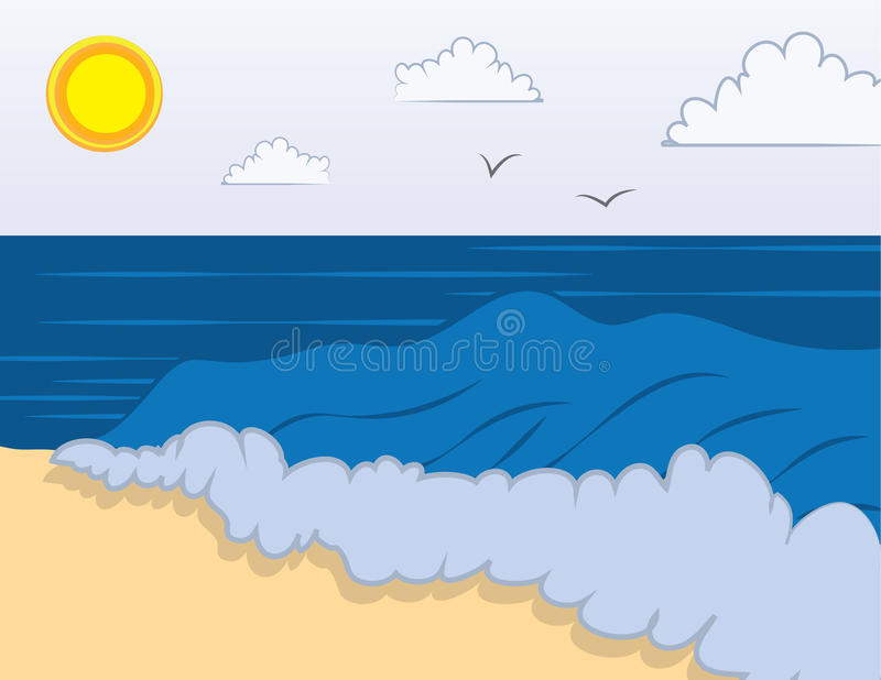 Beach Waves stock vector. Illustration of relax, waves ...