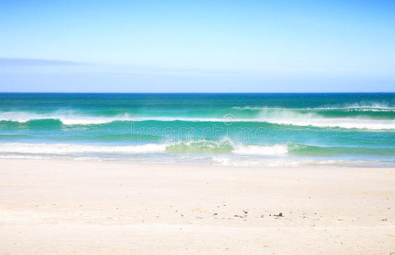 Beach with waves stock image