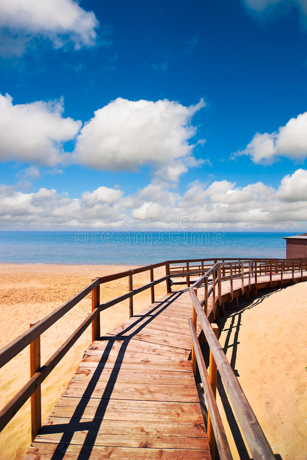 Download Beach way stock image. Image of cloud, color, summer - 13104877