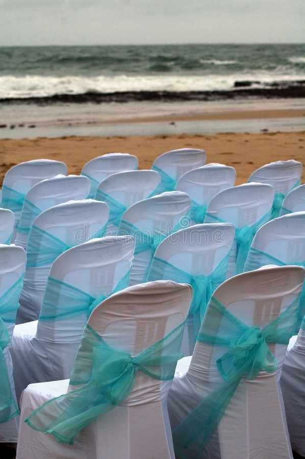 Beach wedding royalty free stock image