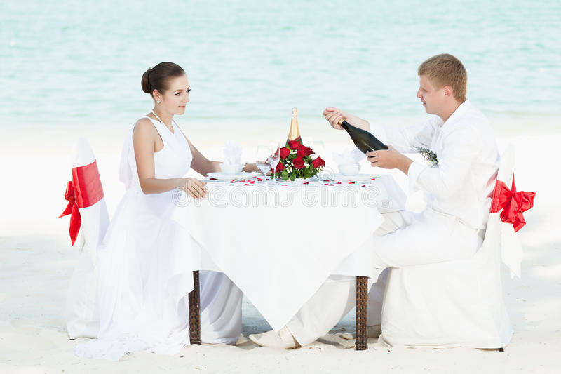 Download Beach wedding stock photo. Image of bottle, girlfriend - 19303640