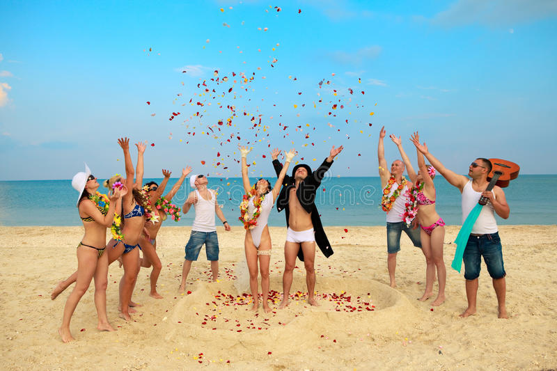 Download Beach wedding stock image. Image of friends, exotic, emotion - 20800595