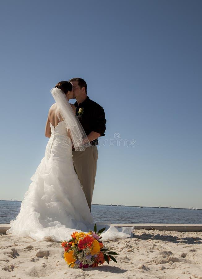Download Beach wedding couple stock photo. Image of celebration - 15188438