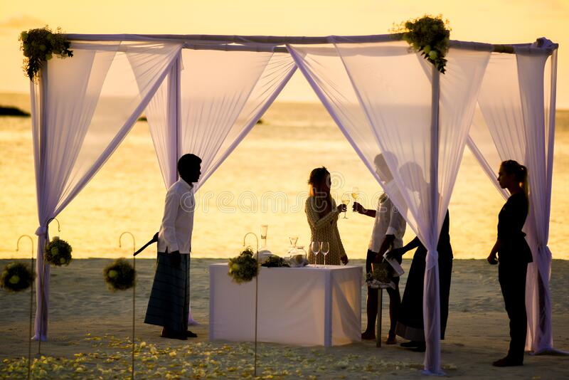 Beach Wedding During Sunset Free Public Domain Cc0 Image