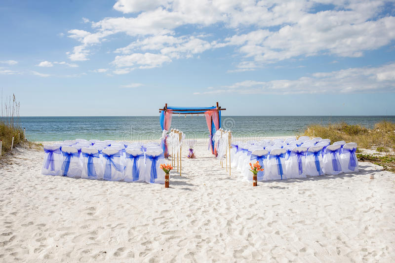 Beach Wedding stock image