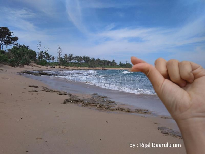 The beach in west lampung royalty free stock photography