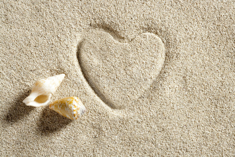 Download Beach White Sand Heart Shape Print Summer Vacation Royalty Free Stock Image - Image: 20414996
