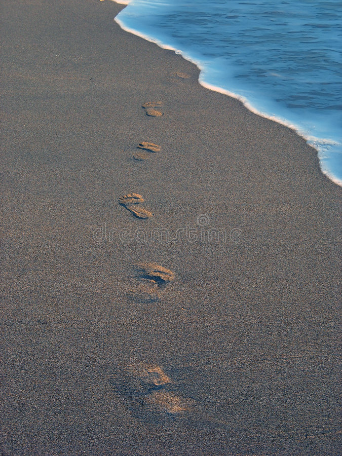 Free Beach With Footprint 2 Stock Photography - 2015932