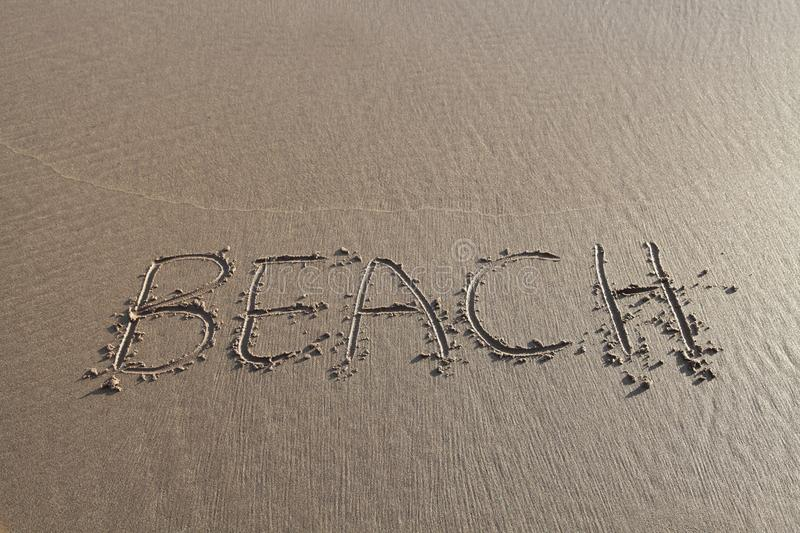 Download Beach word written in sand stock image. Image of word - 29121721