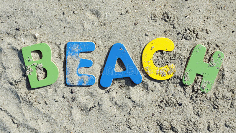 Download Beach Written Royalty Free Stock Photos - Image: 33358308