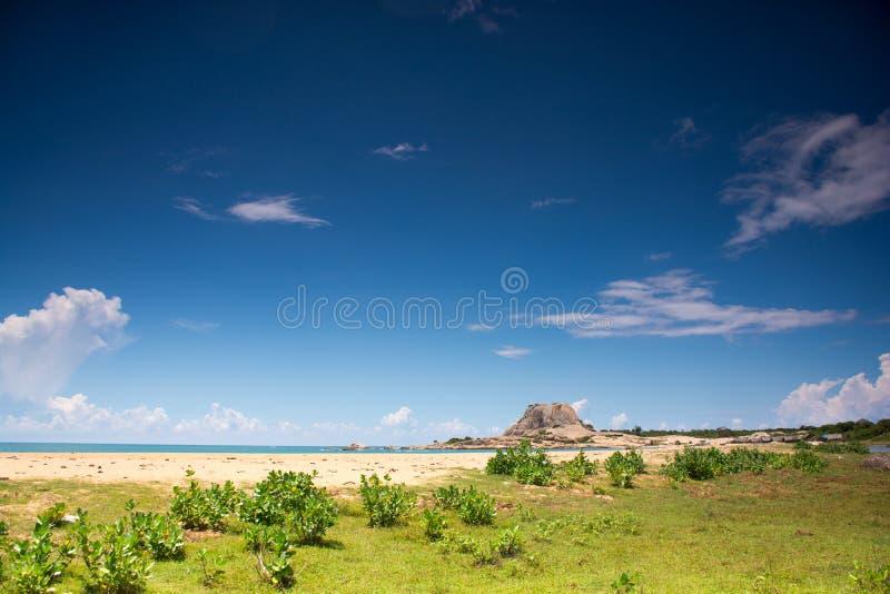 Yala National Park in Sri Lanka. Beach on Yala National Park in Sri Lanka. Beautiful landscape royalty free stock image