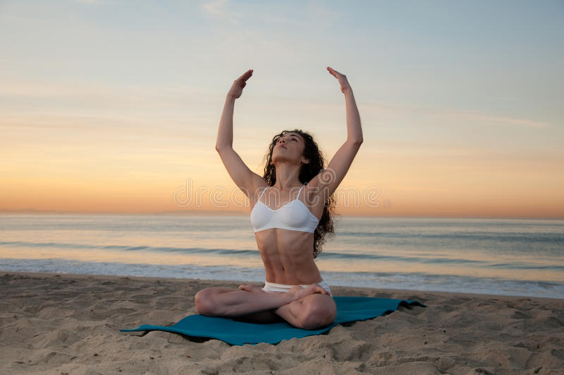 Download Beach Yoga stock image. Image of energy, human, outside - 17848515
