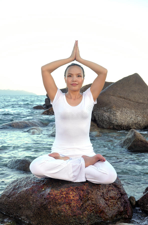 Download Beach Yoga stock image. Image of young, healthy, elegant - 26533033