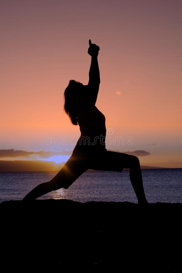 Download Beach Yoga at Sunset stock image. Image of outdoor, beach - 30451305