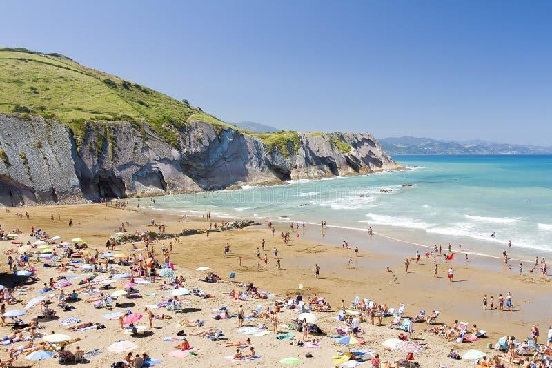 Beach Of Zumaia, Spain Editorial Photography