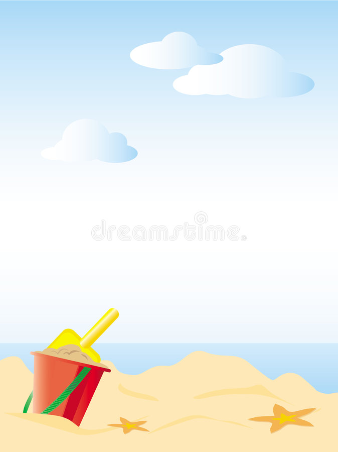 beach01 vektor illustrationer