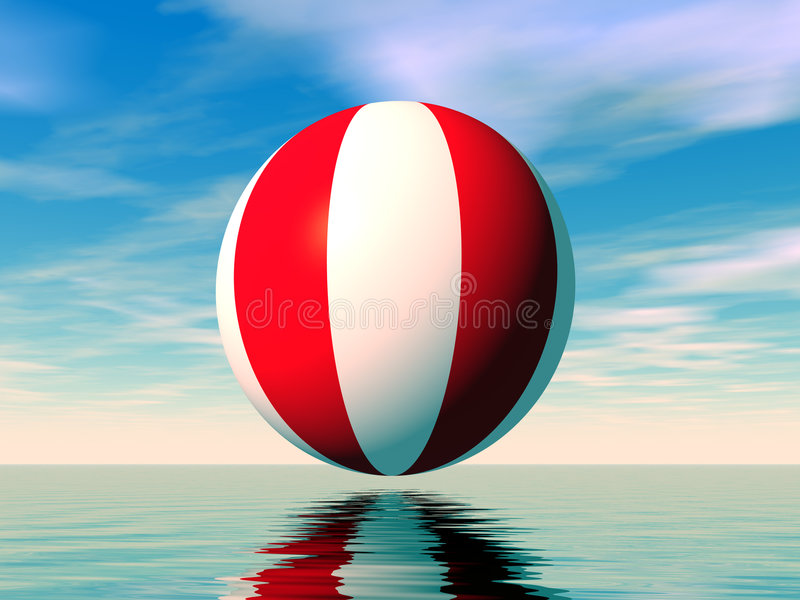 Beachball vector illustratie