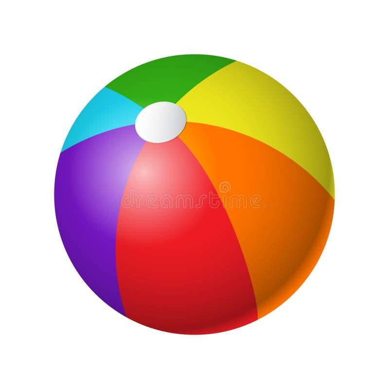 Beachball - nowożytny wektorowy realistyczny odosobniony przedmiot ilustracji