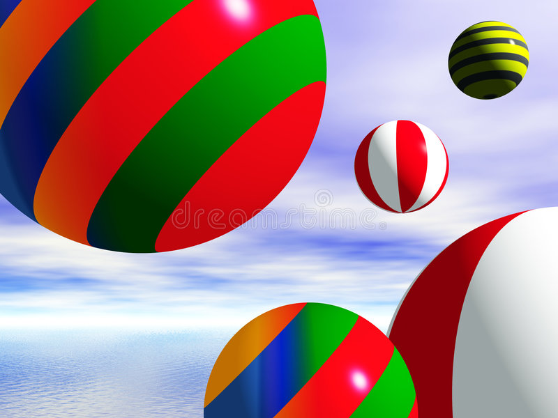 Beachballs stock illustratie
