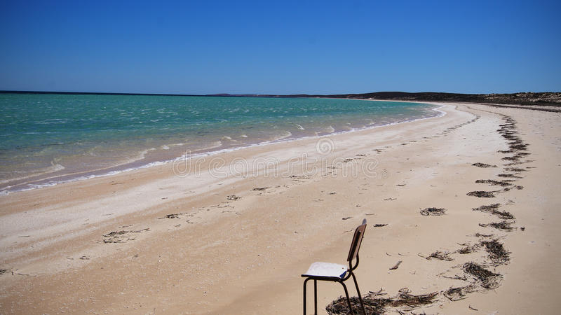 Beachchair stock foto's