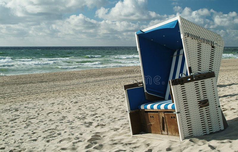 Beachchair royalty free stock photo
