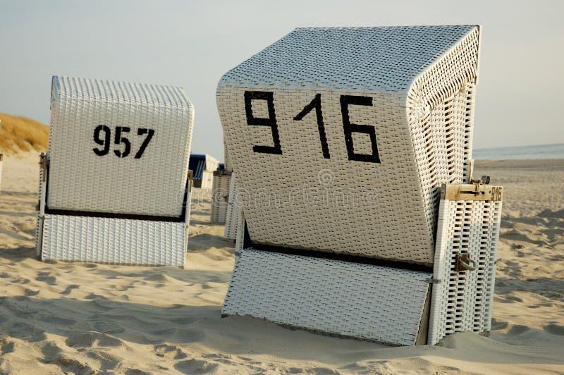 beachchairs obrazy royalty free