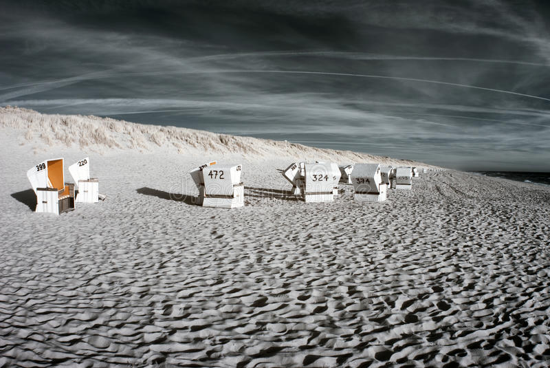 Download Beachchairs. Infrared. stock photo. Image of northsea - 23745090