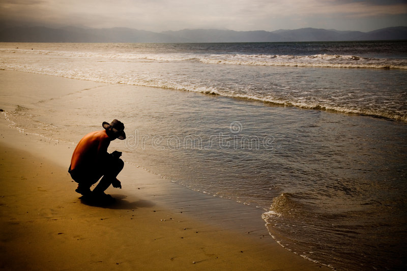 Download Beachcomber stock photo. Image of seas, golden, search - 4716368