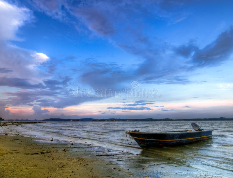 Download Beached Boat stock image. Image of beached, nobody, high - 9140025