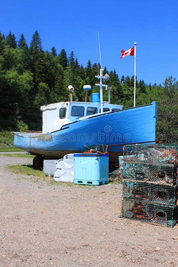 Download Beached Boat In St. Martins, New Brunswick Stock Photo - Image: 20320952